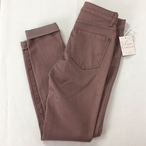 Lauren Conrad Cuffed Skinny Ankle Jeans SZ 2 New